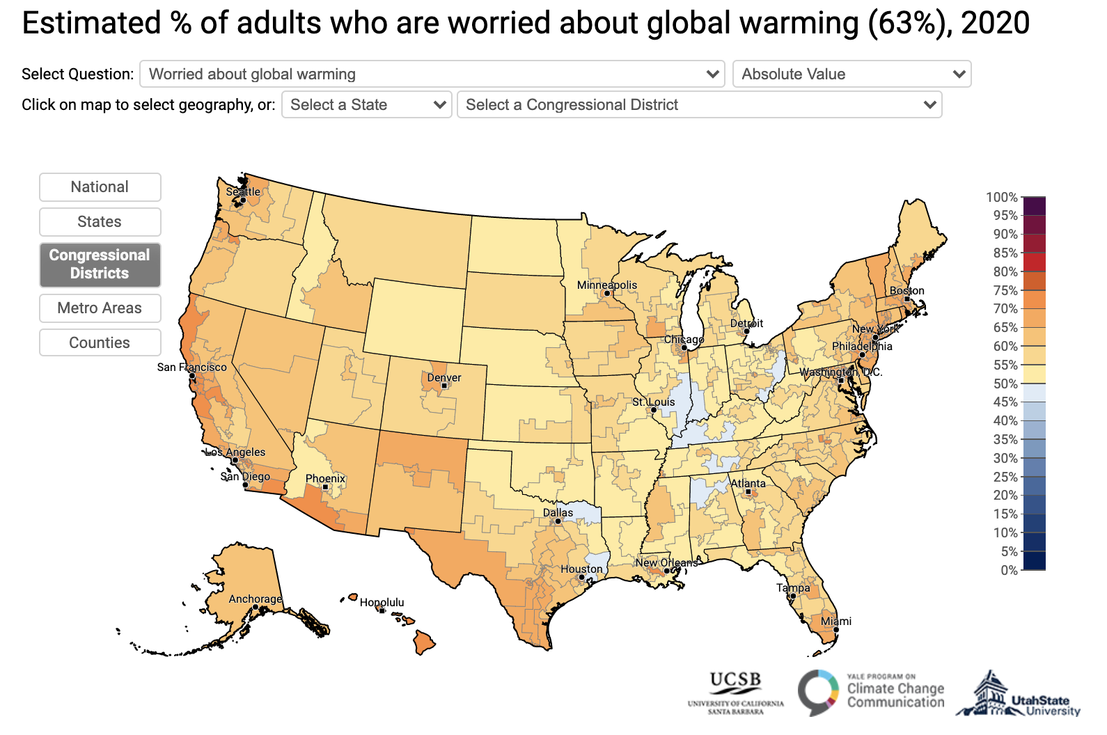 Yale Climate Opinion Maps