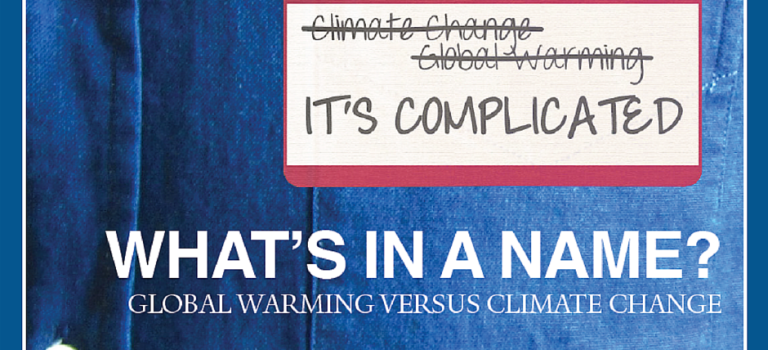 What's In A Name? Global Warming vs Climate Change