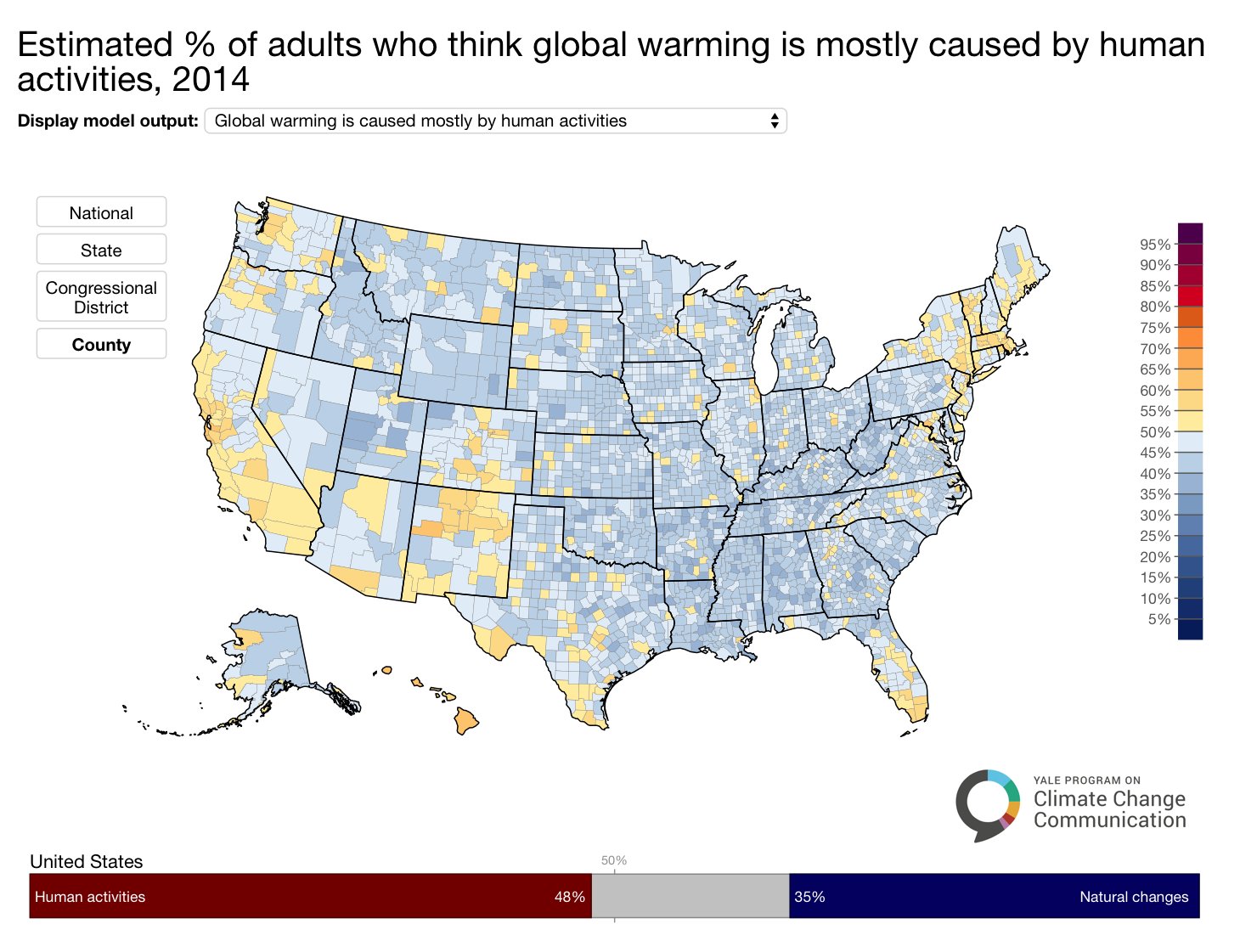 Image for Americans Who Think Global Warming is Happening and it is Mostly Caused by Humans