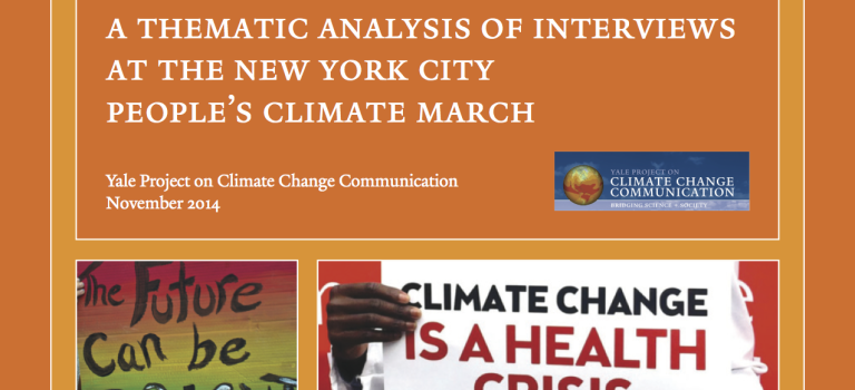 Messages from the NYC People's Climate March: an Analysis