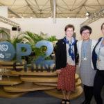 Lisa Fernandez, Binbin Wang, Cat Martini at the COP 23 China Pavilion
