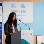 Jing Hui, Energy Foundation China, making opening remarks