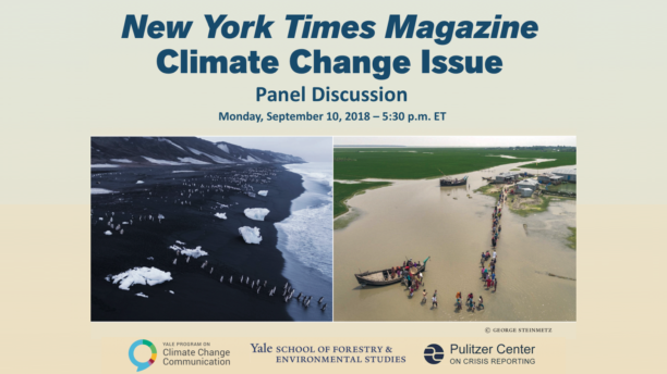 New York Times Magazine Climate Change Issue – A conversation with the author and the photographer