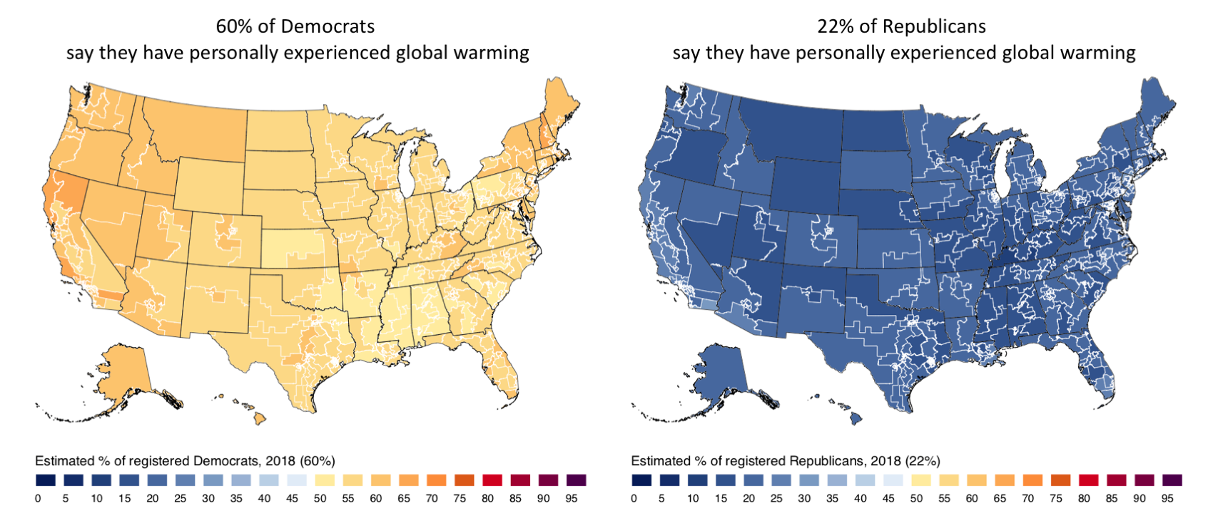 Partisan Climate Opinion Maps 2018 - Yale Program on Climate Change ...