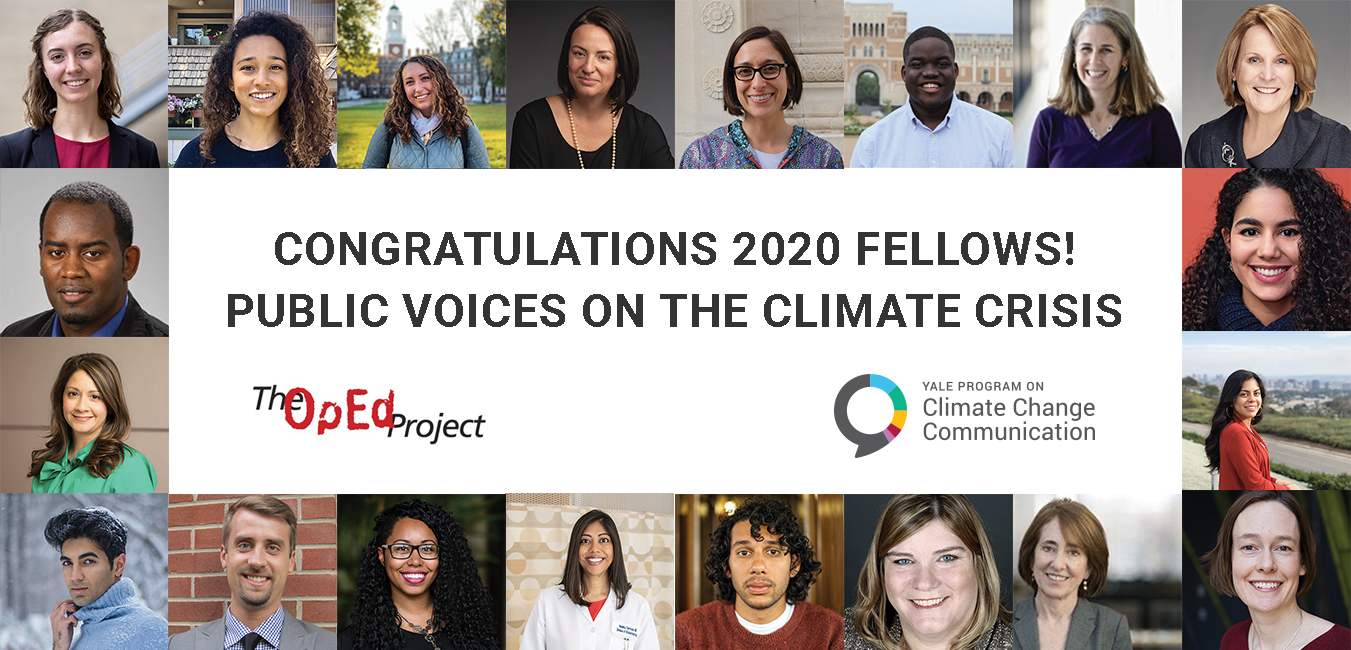 Welcome to the inaugural class of the Public Voices Fellowship on the Climate Crisis