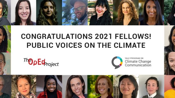 Welcome to the second cohort of the Public Voices Fellowship on the Climate Crisis